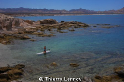 Stand Up Paddle in Cabo Pulmo Marine Park, Baja Californi... by Thierry Lannoy 